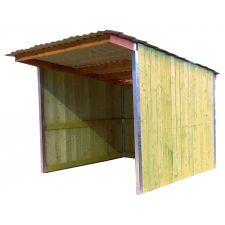 Abri 3,18 x 3,18 bardage agricole toiture bac acier gris